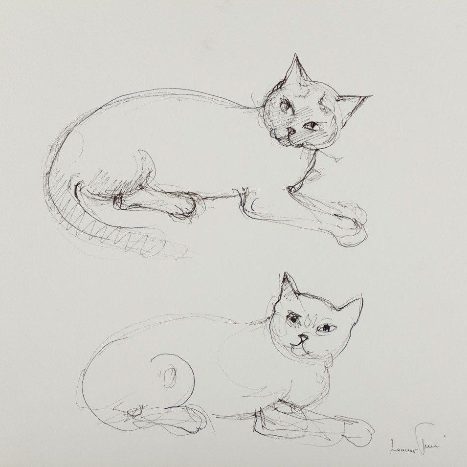 leonor-fini-peintures-dessins-1988-quatre-chats4